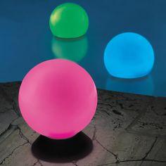 The Place Anywhere Solar Orb Light - Hammacher Schlemmer