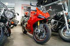 Motorbikes and motorcycles at Bikepoint in Tallinn, Estonia. Google Indoor View. Nordic360