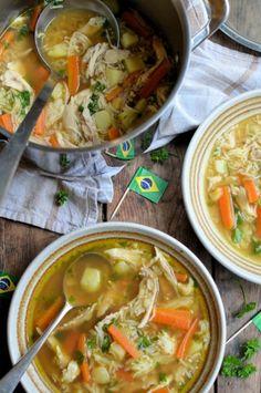 Canja de Galinha - Brazilian Chicken and Rice Soup