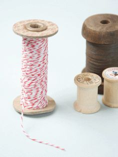 Red and white bakers' twine