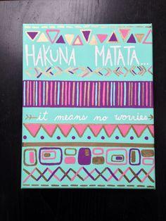 DIY Hakuna Matata canvas!