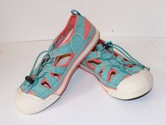 """KEEN Turquoise Coral """"Coronado"""" Shoes Size 37/US 6.5 Women's Sneakers Sandals #Keen #SportSandals"""