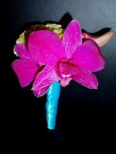 Google Image Result for http://3.bp.blogspot.com/_cemXN6QXsOc/TUyDWioo37I/AAAAAAAAAfg/zpcdla-ASGw/s1600/turquoise_pink_green_orchid_boutonniere.JPG