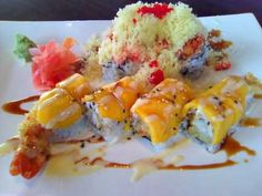 Volcano Roll and Lobster Mango Roll....  @Kristen DerVartanian Evans , I smell a trip to Shiro soon! I still have that darn Groupon!