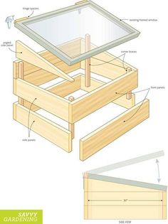 Organic Gardening Ideas DIY cold frame project plan - Upcycle an old window into a DIY cold frame with this Raised Bed Revolution excerpt, which provides step-by-step directions, photos and a project plan. Small Greenhouse, Greenhouse Plans, Greenhouse Gardening, Portable Greenhouse, Indoor Greenhouse, Greenhouse Growing, Underground Greenhouse, Greenhouse Gases, Cold Frame Gardening