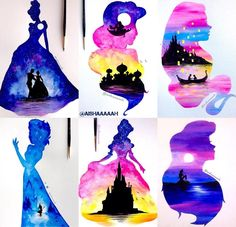Ideas For Disney Art Painting Elsa Watercolor Disney, Watercolor Art, Disney Drawings, Cute Drawings, Disney Love, Disney Magic, Disney Art Diy, Disney And Dreamworks, Disney Pixar