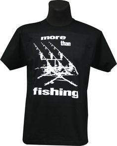 "Kolejna z serii karpiowych koszulek Biggie. Tym razem model ""More Than Fishing"". Model, Mens Tops, T Shirt, Products, Fashion, Mathematical Model, Moda, Tee Shirt"