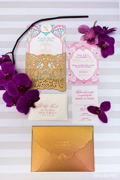 A Contemporary Deco-Glam Indian Wedding   Photography By: Blush Wedding…
