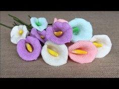 Flor Campanilla a crochet - YouTube