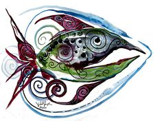 WTFish 4018 from the imagination of J. Vincent Scarpace. www.ipaintfish.com