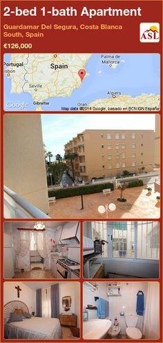 2-bed 1-bath Apartment in Guardamar Del Segura, Costa Blanca South, Spain ►€126,000 #PropertyForSaleInSpain