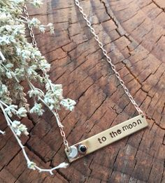 To The Moon Bar Necklace | When somebody is your whole world, this bar necklace is a pret... | Necklaces