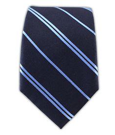 Network Stripe - Midnight Navy/Light Blue (Skinny)