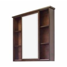 American Imaginations, 35 in. W x 35 in. H Surface-Mount Medicine Cabinet in Walnut, AI-105-35 at The Home Depot - Mobile