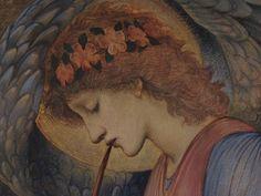 detail - An Angel Playing a Flageolet, c 1878 --Edward Burne-Jones