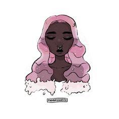 pink~waterfall~hair
