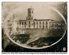 Cabildo (1850?) | Witcomb - Archivo General de la Nación | Uno de los daguerrotipos más antiguos de Buenos Aires