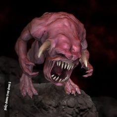 The Pile: Pinky demon from doom II (unfinished)