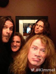 Megadeth at Jimmy Kimmel Show. December 17, 2013