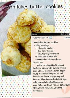 Cornflake butter cookies