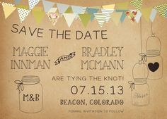 Country Wedding Save the Date Card  Vintage by starboardpress, $3.30