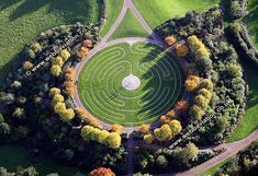 Drop dead gorgeous shot of a labyrinth at Milton Keynes in uk