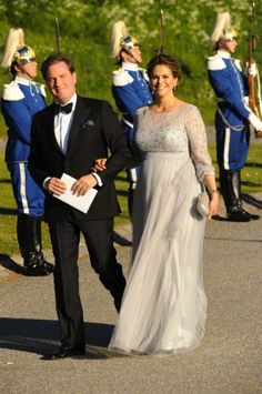 Princess Madeleine of Sweden and her husband Christopher O'Neill  arrive for the Pre-Wedding Dinner of her brother  Prince Carl Philip to Sofia Hellqvist on June 12, 2015 in Stockholm, Sweden.