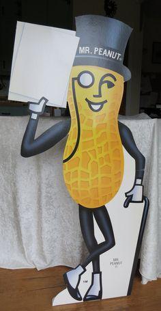 Mr.Peanut 48 Cardboard Stand-Up Display Card by EMStreasureseekers
