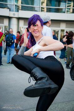 This realistic Leela cosplay will kinda freak you out. Photo by Davann Srey Photography | #Futurama