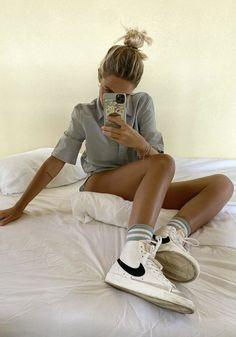 Sneaker Outfits, Nike Outfits, Nike Blazers Outfit, Blazer Outfits, Sneakers Mode, Sneakers Fashion, Sneaker Trend, Looks Style, Kicks