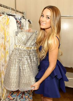 lauren conrad - gorgeous makeup and hair with soft romantic curls