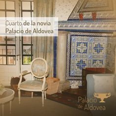 El #PalaciodeAldovea es un lugar especial. El encanto de sus estancias, como el Cuarto de la novia, convierte las bodas en diferentes 😊