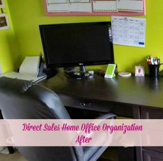 How can you get a direct sales home office functional? Professional organizer, Lisa Woodruff, will show you how - AFTER pictures.