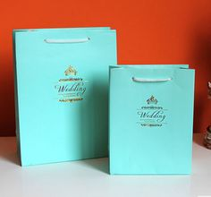 10 pieces Light Blue Multi-Paper Wedding Party Bags Candy Favours  16092101