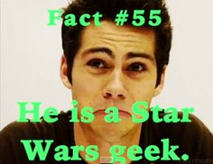 Dylan O'Brien fact. That's awesome!!!