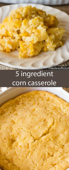 This no-fail corn 5 ingredient corn casserole recipe is versatile and bakes up into a savory side dish that will complement any meal. #easter #corncasserole #corn #casserole #recipe #creamcorn #sidedish #easterdinner #thanksgiving #holiday #christmas #comfortfood #baking #easyrecipe #corn