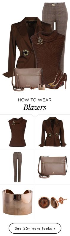 """Brown"" by daiscat on Polyvore featuring Salvatore Ferragamo, Gianfranco Ferré, Dsquared2, Christian Louboutin, Kate Spade, Maison Margiela and Latelita"
