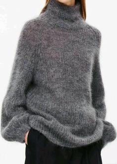 толстый свитер добавляет объемов