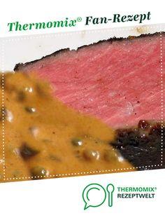 Rindersteak mit grüner Pfeffersauce  von UdoSchroeder. Ein Thermomix ® Rezept aus der Kategorie Hauptgerichte mit Fleisch auf www.rezeptwelt.de, der Thermomix ® Community. Sous Vide, Jam Jam, Food And Drink, Beef, Cooking, Dips, Spaghetti, Filet Of Beef, Fillet Steak Recipes