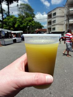 'Garapa (var. Guarapa) or Caldo de cana is the Brazilian Portuguese term for the juice of raw sugar cane.' http://www.lonelyplanet.com/brazil