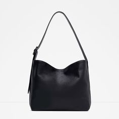 Image 1 of LEATHER BUCKET BAG WITH BUCKLE from Zara