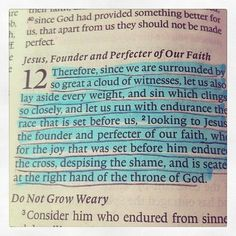 Hebrews 12:1&2