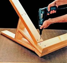 Easy directions for building DIY sawhorses. #woodworkingprojects