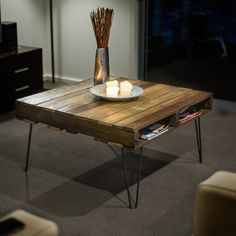 Awesome Do-It-Yourself Coffee Table designs perfect for your home! #coffeetable
