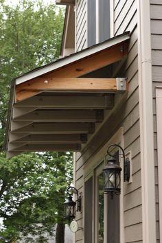 Door arbor, Diy trellis and Garage ... Front Door Awning, Diy Awning, Window Awnings, Roof Window, Front Entry, Front Stoop, Door Entry, Side Window, Basement Entrance