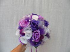 """Bouquet de mariée rond - violet parme et blanc - """"Violine"""" : Autres accessoires par sophialaura"""