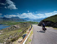 amazing ways to experience Scotland's landscape Road cycling in Ardheslaig, Applecross Peninsula, ScotlandRoad cycling in Ardheslaig, Applecross Peninsula, Scotland Scotland Landscape, Places In Scotland, Adventure Activities, Going On Holiday, Travel Tours, Road Cycling, Worlds Of Fun, Holiday Destinations, Great Britain