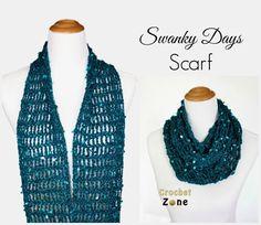 Free Crochet Pattern: Swanky Days  Scarf