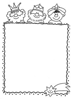 Carta a los Reyes Magos: Fotos de modelos para imprimir y colorear - Plantilla dibujos para colorear carta a los reyes magos Christmas Colors, Kids Christmas, Christmas Crafts, Christmas Activities, Christmas Printables, Page Borders, Three Wise Men, Borders For Paper, Jingle All The Way