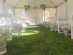 Wedding Pergola with flowers and ribbon